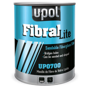 U-Pol UP0700 FIBRAL Lite Fiberglass Filler (Pale Yellow) 3L Tin