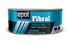 U-Pol UP0716 FIBRAL Fiberglass Filler (Yellow) 900 ML Tin