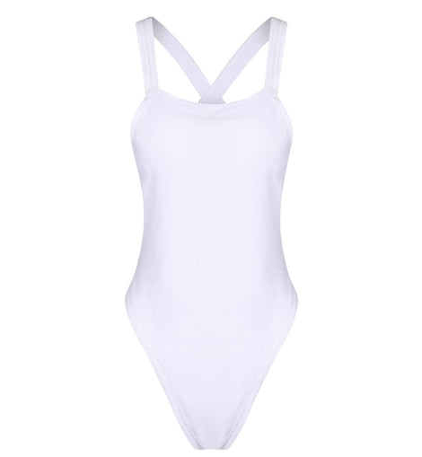 Backless Square Neck One Piece Swimsuit