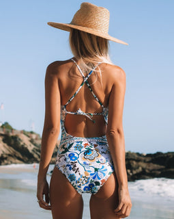 Bohemian Floral One Piece Swimsuit