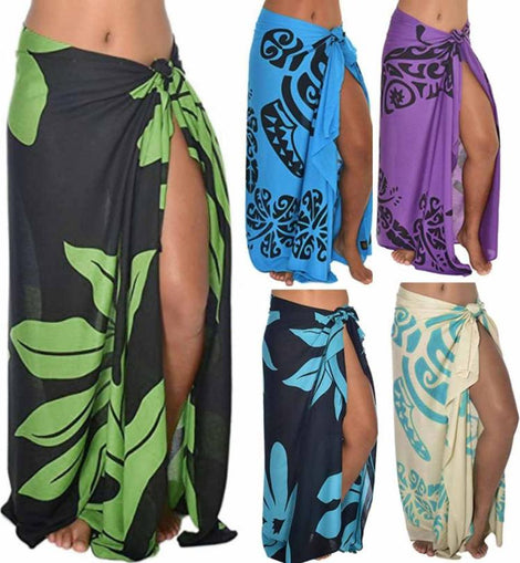 Tropical Beach Cover-Up Wrap Skirt