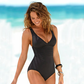 Flattering Classic One Piece Swimsuit