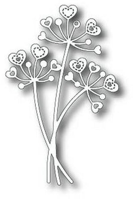 TUTTI-212 Stitched Heart Flower Stems