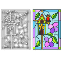 TUTTI-399 Birdhouse Stained Glass