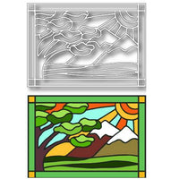 TUTTI-405 Landscape Stained Glass