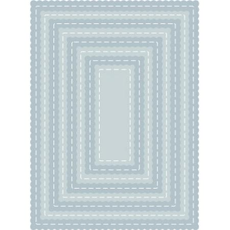 TUTTI-418 Scalloped Stitched Nesting Rectangles