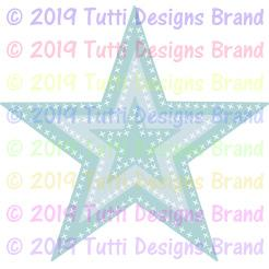 TUTTI-614 Cross Stitch Stars
