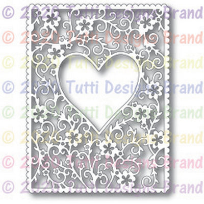 TUTTI-636 Floral Heart Frame