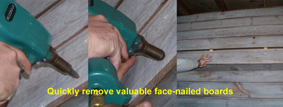Quickly Remove Valuable Face-nailed boards