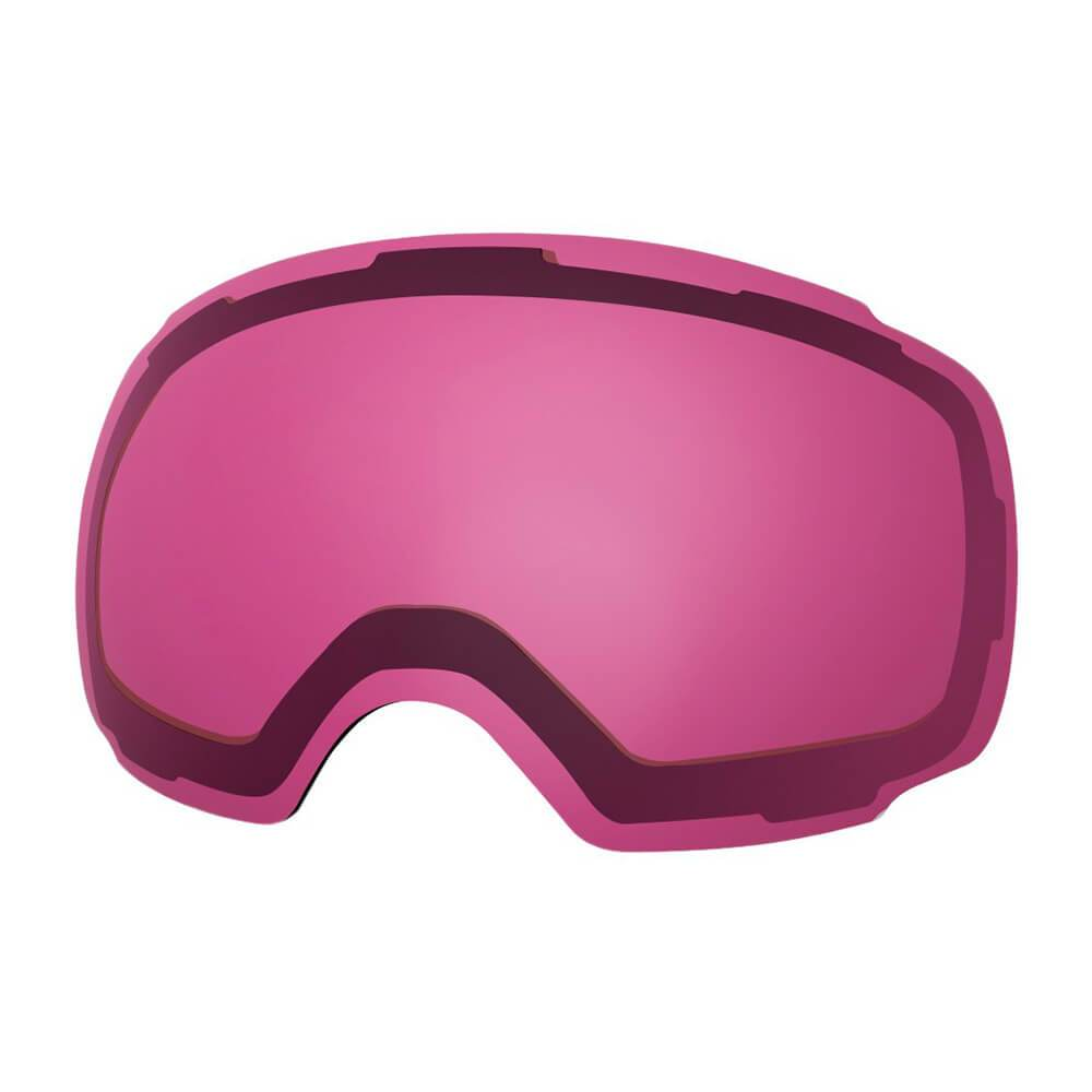 REPLACEMENT LENS BASIC - For Goggles Pro Series - 20+ Different Lens - 100% UV400 Protection OutdoorMasterShop VLT 46% Pink