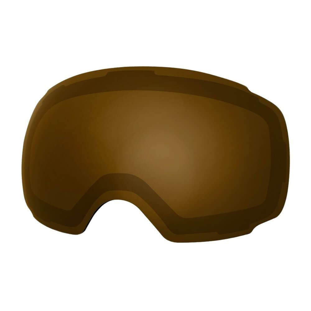 REPLACEMENT LENS BASIC - For Goggles Pro Series - 20+ Different Lens - 100% UV400 Protection OutdoorMasterShop VLT 25% Brown - Polarized