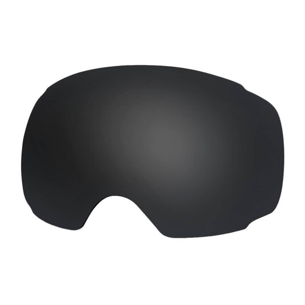 REPLACEMENT LENS BASIC - For Goggles Pro Series - 20+ Different Lens - 100% UV400 Protection OutdoorMasterShop VLT 9% Black - Polarized