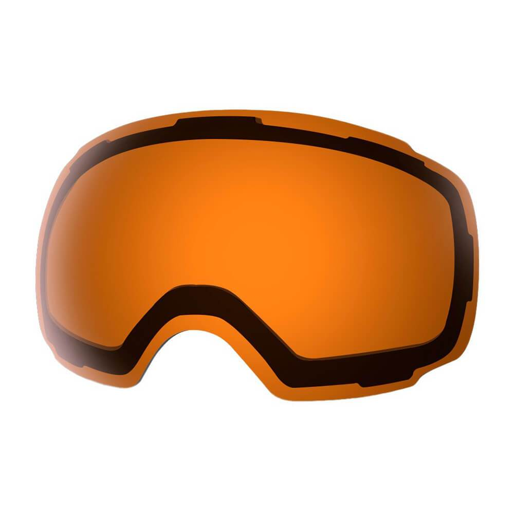 REPLACEMENT LENS BASIC - For Goggles Pro Series - 20+ Different Lens - 100% UV400 Protection OutdoorMasterShop VLT 45% Orange Lens