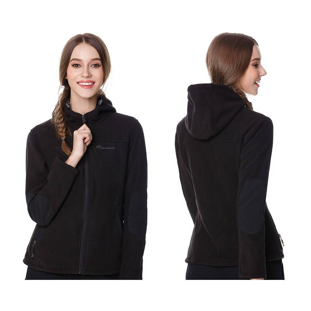 WOMEN'S FLEECE HOODIE JACKET OutdoorMasterShop