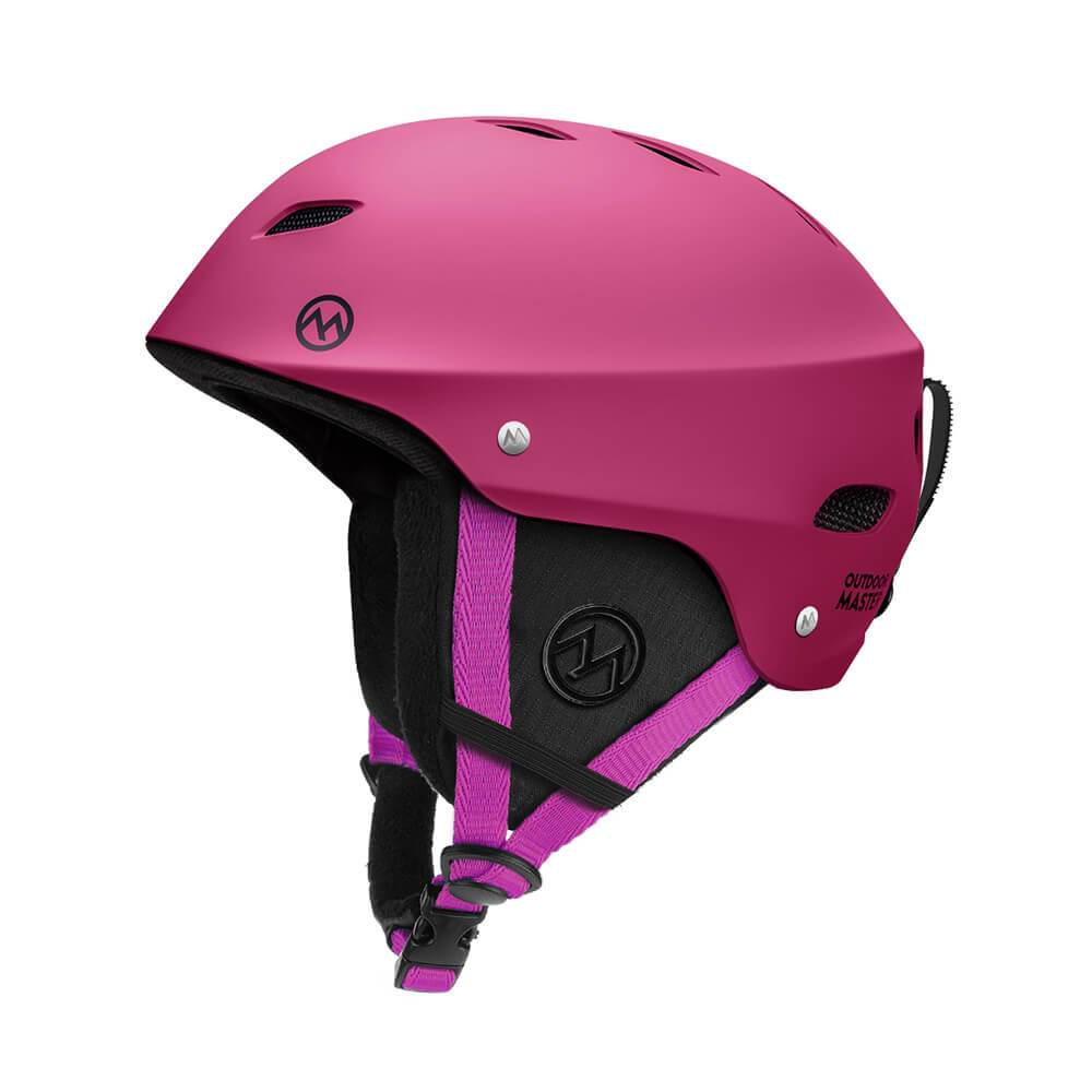 KELVIN SKI HELMET - with ASTM Certified Safety OutdoorMasterShop Pink S 19-20.5 inches