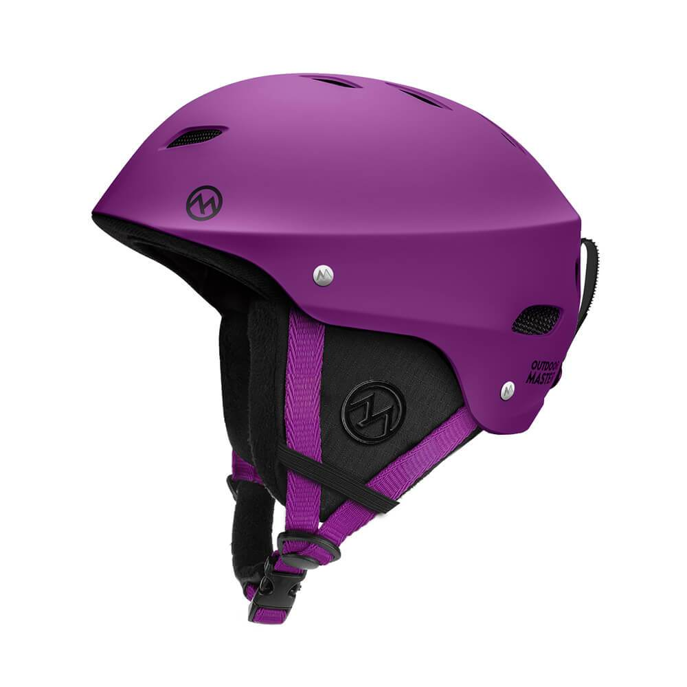 KELVIN SKI HELMET - with ASTM Certified Safety OutdoorMasterShop Purple S 19-20.5 inches