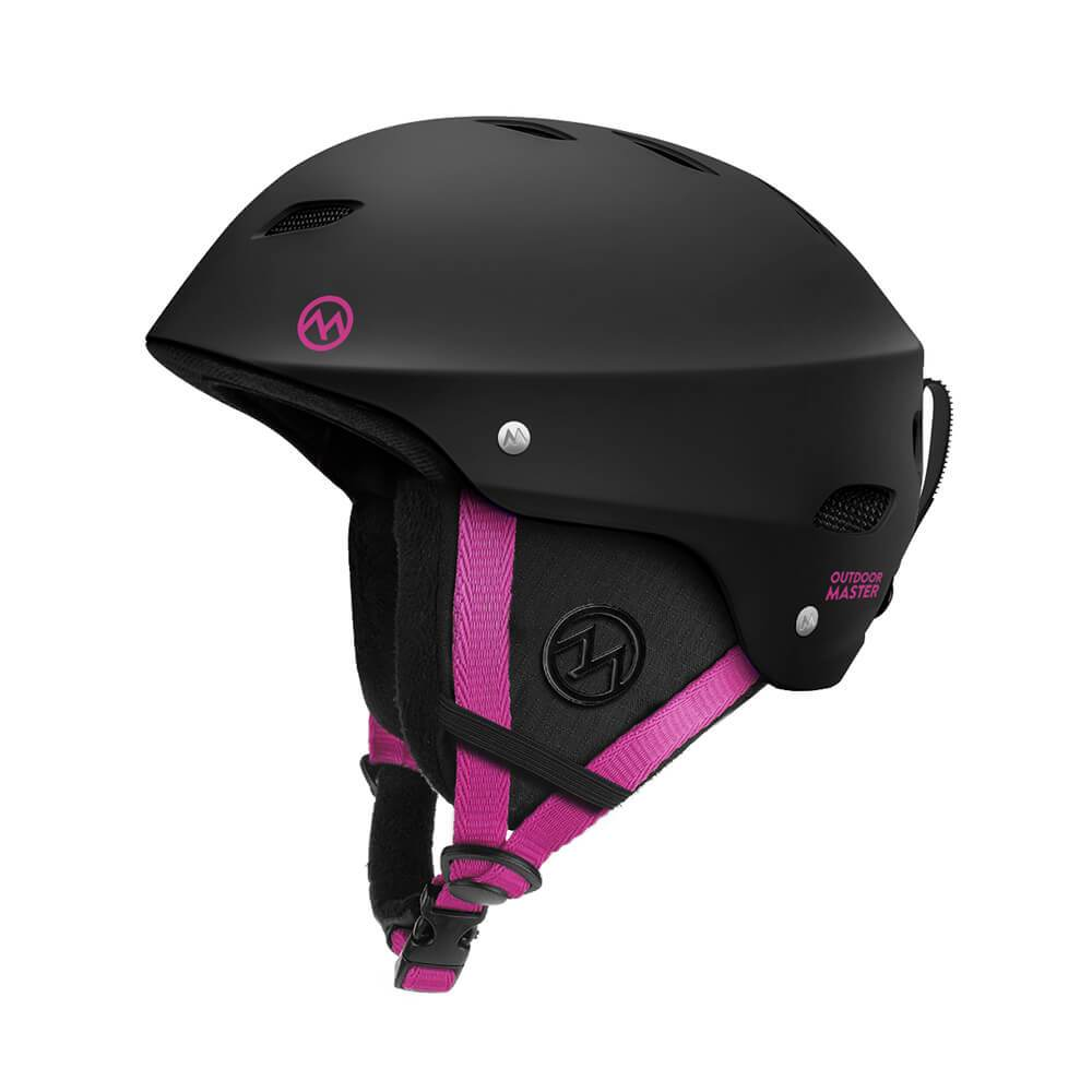 KELVIN SKI HELMET - with ASTM Certified Safety OutdoorMasterShop Black+Pink S 19-20.5 inches