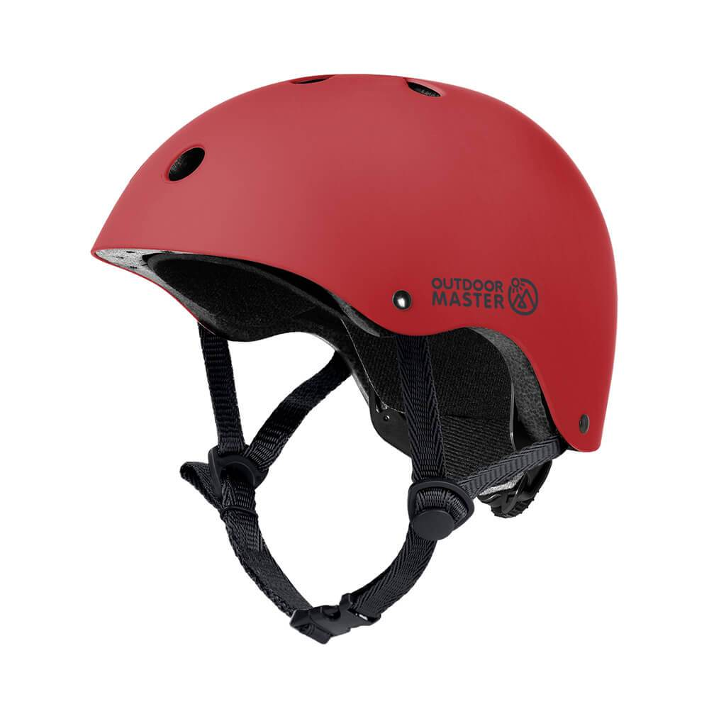 KIDS SKATEBOARD HELMET OutdoorMaster Red S