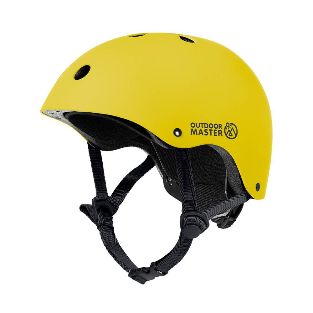 KIDS SKATEBOARD HELMET OutdoorMaster Bright Yellow S