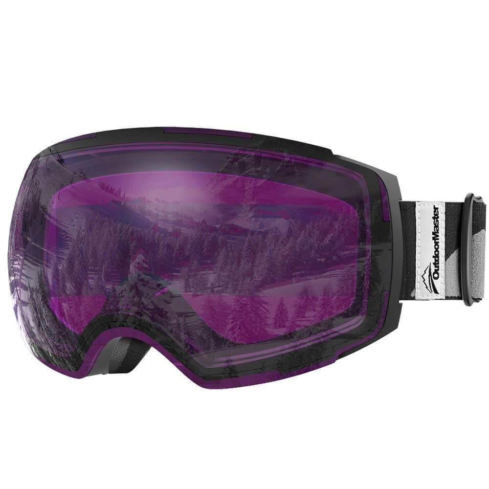 SKI GOGGLES PRO CLASSIC- 20+ Different Lens for Men, Women & Youth - Magnetic Interchangeabele Lens System OutdoorMasterShop