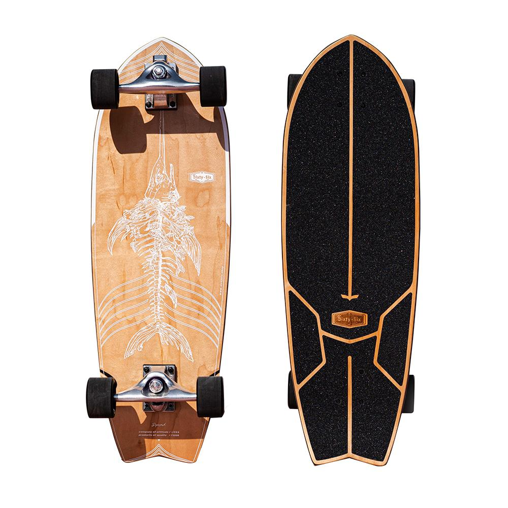 "Sixty-Six Surf SkateBoard - Superfish S-POR 30"" OutdoorMaster Fish Bone"