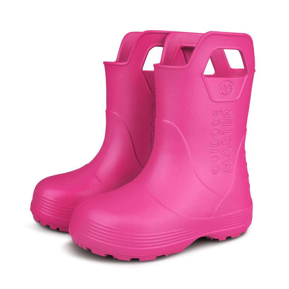 KIDS TODDLER RAIN BOOTS OutdoorMasterShop Rose 6