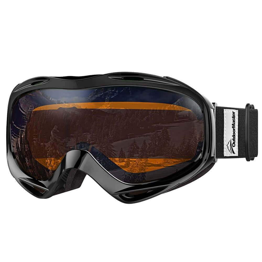 SKI GOGGLES OTG - 100% UV400 Protection - for Men, Women & Youth OutdoorMasterShop Black Frame VLT 24%