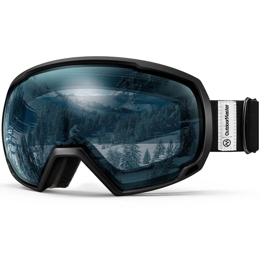 SKI GOGGLES OTG - 100% UV400 Protection - for Men, Women & Youth OutdoorMasterShop Black Frame VLT 60%