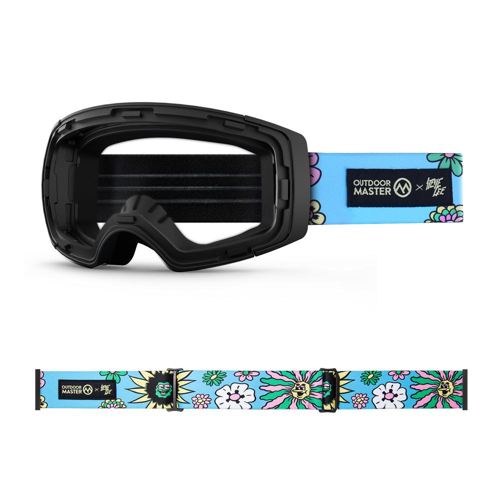 Outdoormaster x Stevie Gee Goggles Frame & Strap - Limited Edition Not Including Lens OutdoorMaster FLOWER POWER