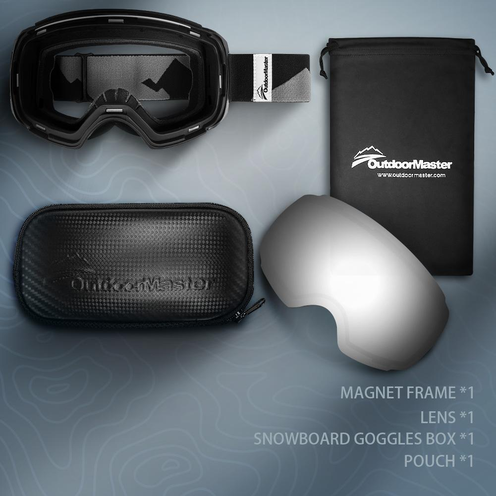 XMAS Bundle Sales - Ski Goggles PRO + 3 Layer Face Mask - 2 in 1 Package OutdoorMaster
