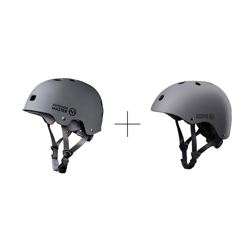 SPRING BUNDLE SALES - SKATEBOARD HELMETS Bundle OutdoorMaster Grey S S