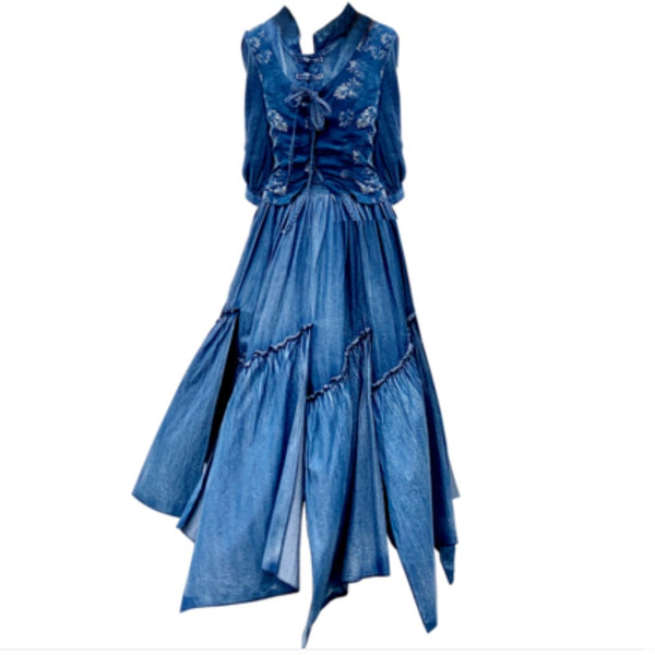 Robe en jean old school