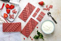 Strawberry and yogurt chocolate bar