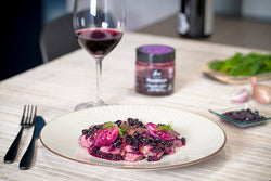 Duck magret with blackcurrant sauce