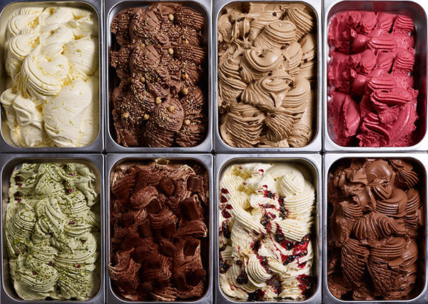 A selection of gelato
