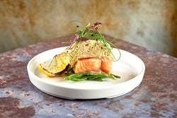 Salmon and chive