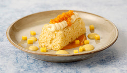 Mango Sponge with Clotted Custard