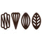 Barbara Decor | Dark chocolate special decor | 600 pieces