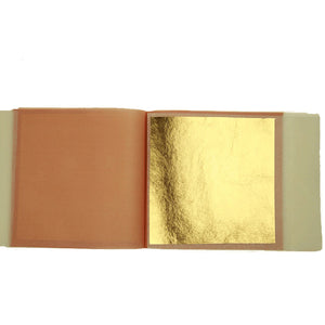 Pack of 25 edible gold leaf transfer sheets (80 x 80mm)