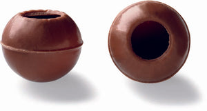 Milk chocolate truffle shells (25mm diameter)