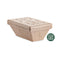 Polo Plast | 1000ml compostable thermic brown tub | 120 pieces