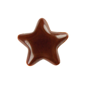 Hillbo | Dark chocolate mini star (17x17mm) | 480 pcs