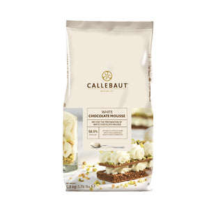 Callebaut white chocolate mousse powder packaging
