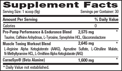 1 Up Nutrition Her Pro Pump Nutrition Facts