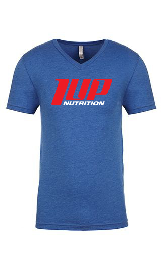 1UP Nutrition Men's Blue V-neck