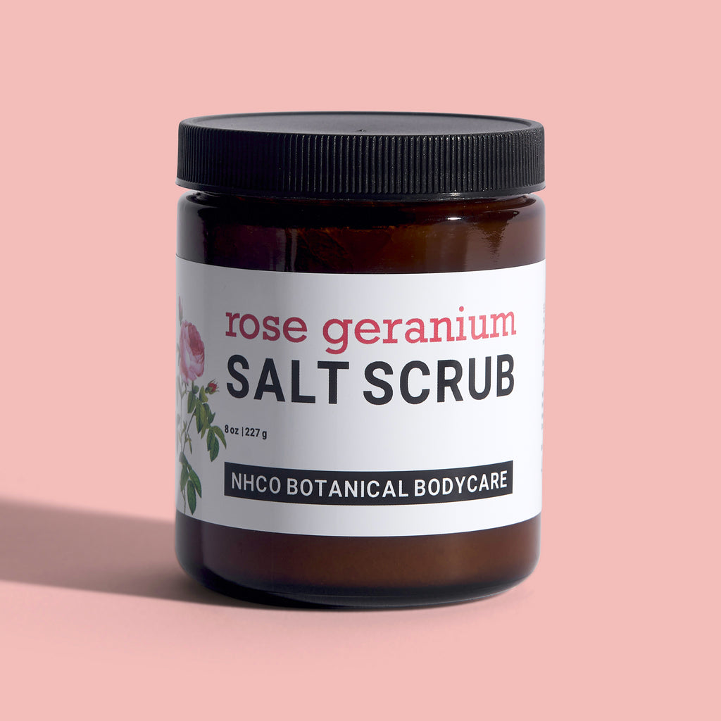 Rose Geranium Salt Scrub