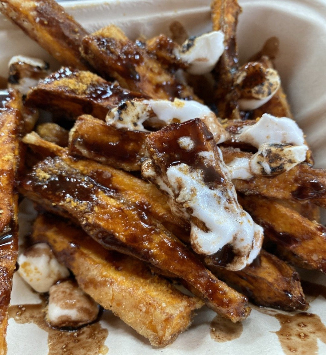 Small Sweet Potato S'mores Poutine
