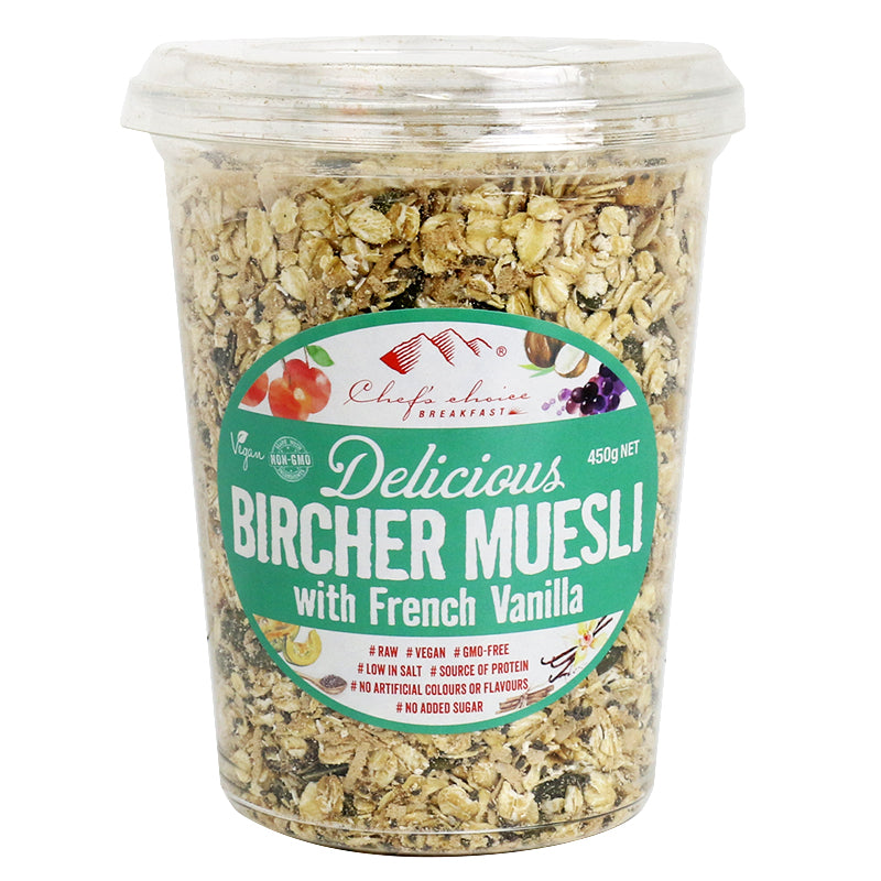 Delicious Bircher Muesli with French Vanilla
