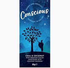 Conscious Chocolate Chia & Coconut
