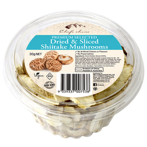 Premium Selected Dried & Sliced Shiitake Mushrooms 30g